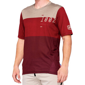 100% Airmatic Enduro/Trail Jersey Heren, brick/dark red